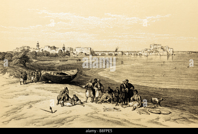 Print of Ancient Sidon - Stock Image