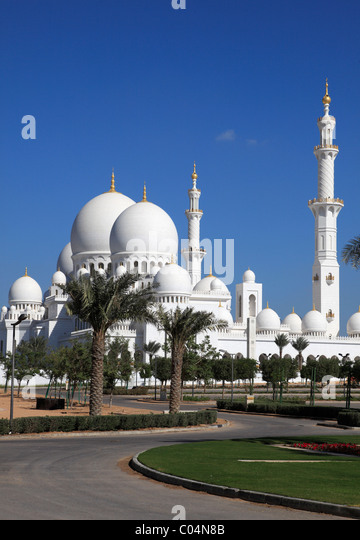 United Arab Emirates Abu Dhabi Sheikh Zayed bin Sultan al-Nahyan Mosque - Stock Image