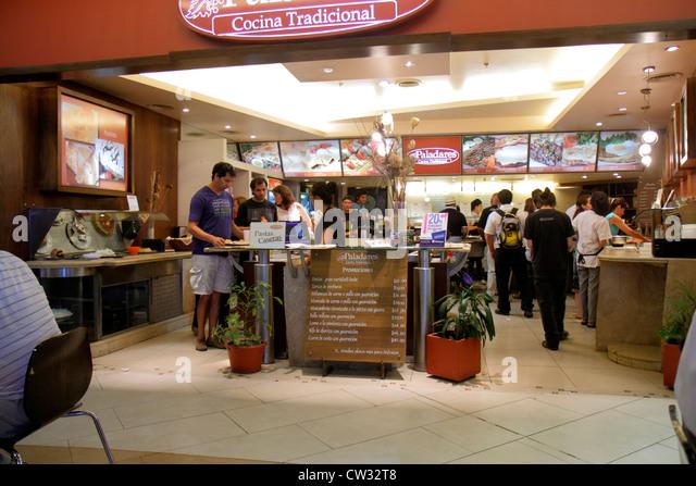Mendoza Argentina Villa Nueva Mendoza Plaza Shopping mall business shopping center centre food court Paladares Restaurant - Stock Image