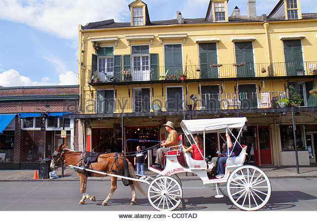 New Orleans Louisiana French Quarter National Historic Landmark 907 Decatur architecture heritage building gallery - Stock Image