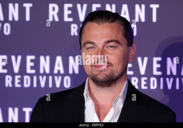 Rome, Italy. 15th Jan, 2016. Leonardo Di Caprio, Casa del Cinema. Redivivo Anteprima. Revenant Red Carpet Premiere. - Stock Image