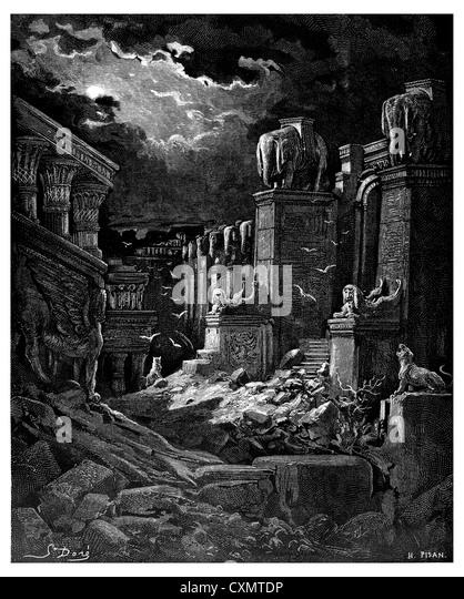 The destroyed Babylon - Stock Image