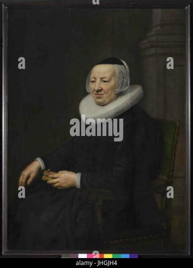 Jan Anthonisz van Ravesteyn kol.1570-1657 - Podobizna stare zeny - Stock Image