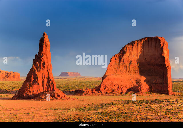 Dancing Rocks near Rock Point in the Navajo reservation in northern Arizona, USA - Stock Image