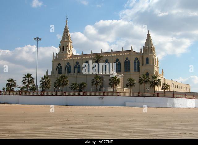 Chipiona church Spain - Stock Image