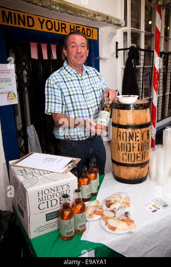 UK, England, Wiltshire, Bath, Green Street, Great Bath Feast food festival street party, Honey's midford cider stall - Stock Image