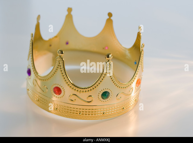 Close up of toy crown - Stock Image