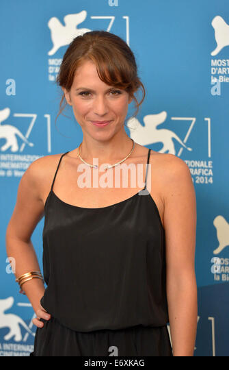 Venice, Italy. 1st Sept, 2014. Actress Isabella Ragonese poses during the photo call for 'Il giovane favoloso' - Stock Image