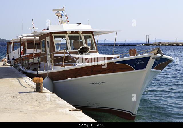 Pleasure boat in the Aegean Sea. - Stock Image