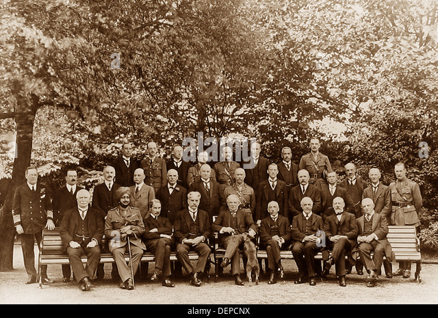 The Imperial War Council during WW1 - Stock Image