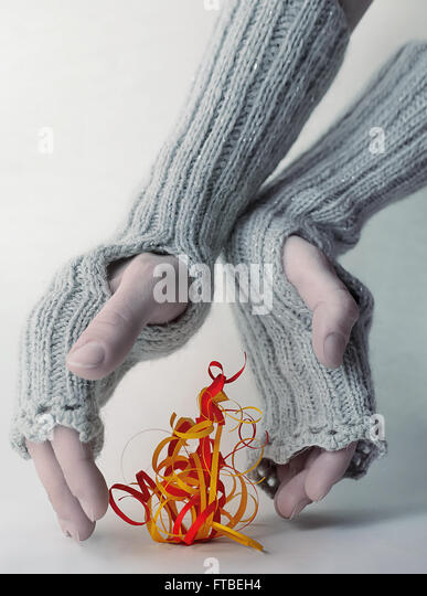 December fire - Stock Image