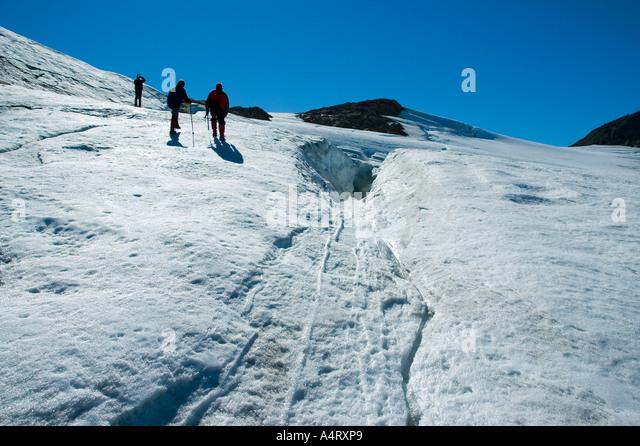 On the Mítivagkat glacier, Angmagssalik Island, Sermilik Fjord, East Greenland - Stock Image