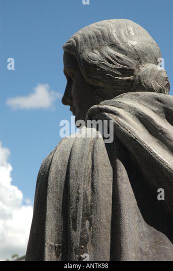 LOUISIANA Evangeline Statue Henry Wadsworth Longfellow poem - Stock Image