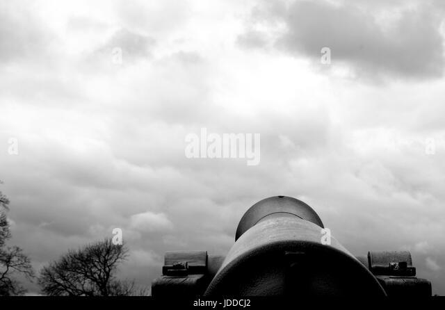 Artillery, Artillery gun, Guns, Ordnance, Gunnery, History - Stock Image