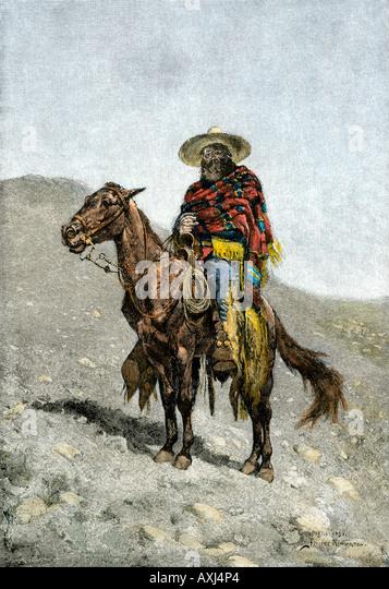 A Mexican vaquero, 1800s - Stock-Bilder