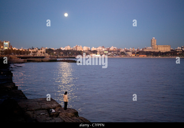 Rio La Plata Montevideo Uruguay - Stock Image