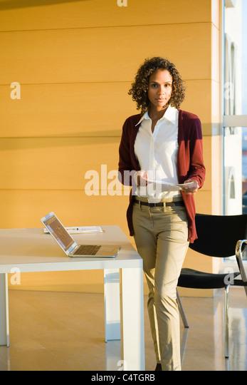 Professional woman, portrait - Stock Image
