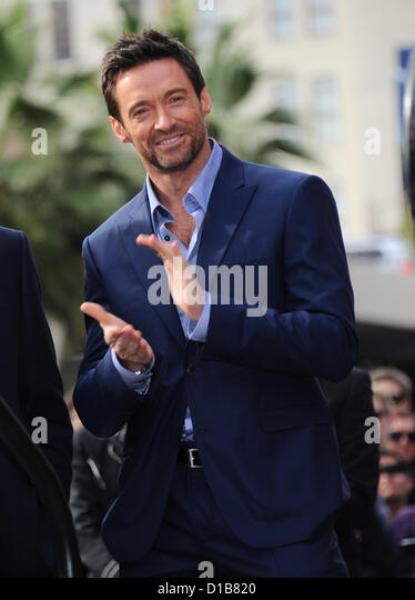 Hollywood, USA. 13th December 2012. Actor Hugh Jackman honored with a star on the Hollywood Walk of Fame, Hollywood, - Stock Image
