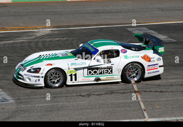 Dodge Viper Competition Coupe, GT3 Brazilian Racing Cup, Nelson Piquet Autodrome, Brasilia, Brazil, South America - Stock Image