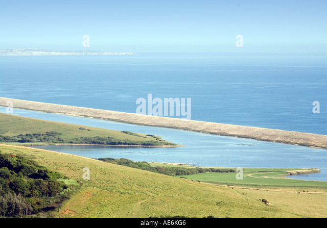 Chesil Beach or Chesil Bank, Dorset, England, UK, - Stock Image