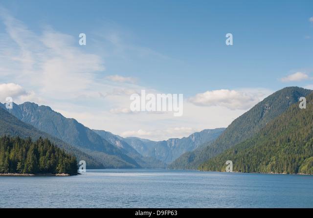 Inside Passage, British Columbia, Canada - Stock Image