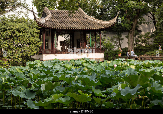 Humble Administrator's garden in Suzhou, China. - Stock Image