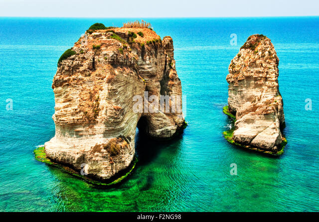A landmark of Beirut and a very popular destination for both locals and tourists. - Stock Image