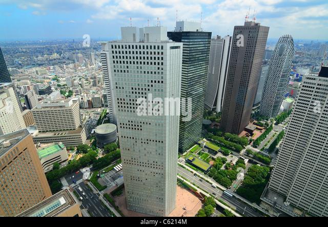 Skyscrapers in Shinjuku, Tokyo, Japan. - Stock Image