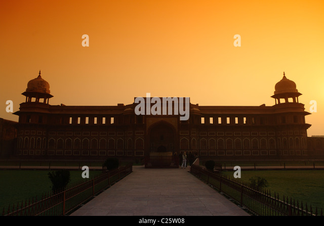Jahangiri mahal in the Red Fort, Agra, India - Stock-Bilder