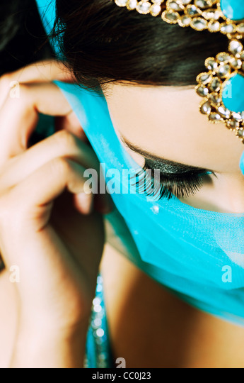 Beautiful Indian woman - Stock Image