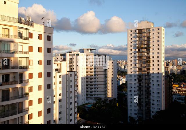 Brazil, Sao Paulo, View of apartment buildings - Stock Image