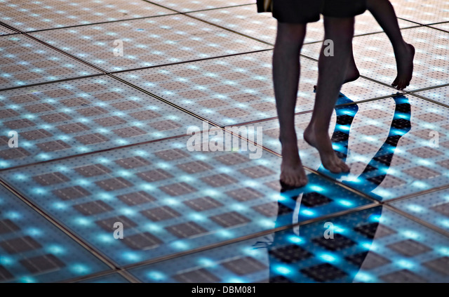 Croatia, Dalmatia, Solar panels as a dance floor - Stock Image