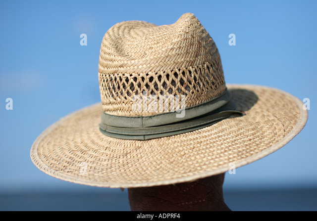 Florida, straw hat, blue sky, water, sun protection, fashion, style, head, shade, - Stock Image