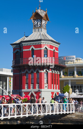 Harbour and 'Clock Tower', 'V&A waterfront', 'Cape Town', 'South Africa' - Stock Image