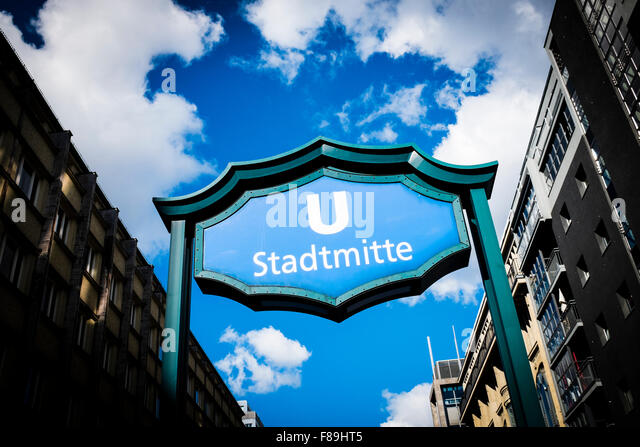 Subway station Stadtmitte, Berlin, Germany - Stock Image