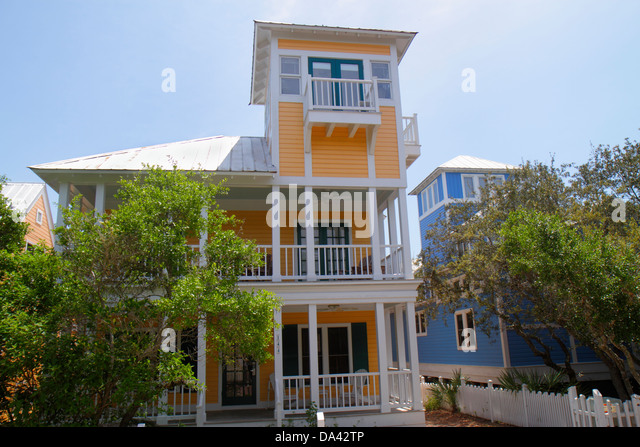 Florida Seaside master-planned community New Urbanism beach cottages residences - Stock Image