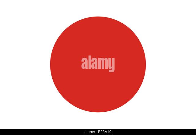 Japanese flag illustration - Stock Image