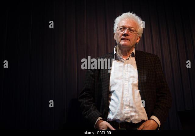 Aberystwyth Wales UK, Saturday November 29 2014   HOMER SYKES veteran photojournalist at the LENS 10 festival of - Stock Image