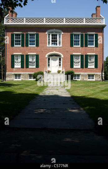 James Vanderpoel House, 1810, Federal style architecture, Kinderhook, Columbia County, New York State - Stock Image