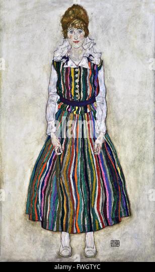 Portrait of Edith 1915  Egon Schiele 1890-1918 Austria Austrian - Stock Image
