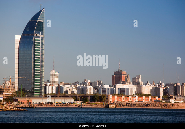Uruguay, Montevideo, Torre Antel tower - Stock Image