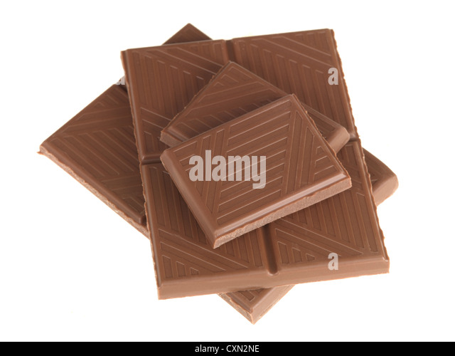 Bar of Milk Chocolate - Stock Image