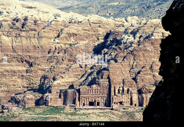 Royal Tombs in Petra, Jordan. - Stock Image