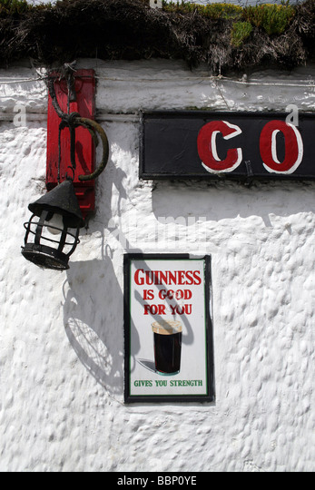 Conway's bar, Ramelton, Co. Donegal. - Stock Image