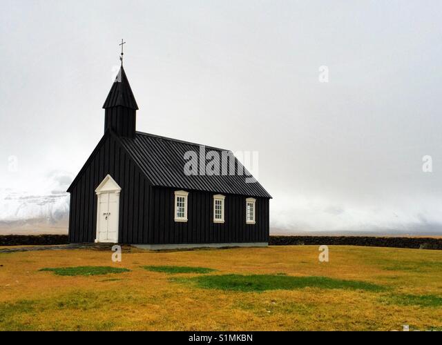 Icelandic Church - Stock Image