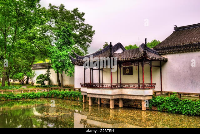 Humble Administrator's Garden, the largest garden in Suzhou - Stock Image
