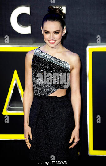 London, UK. 16th December, 2015. Daisy Ridley attends the European Premiere of 'Star Wars: The Force Awakens' - Stock Image