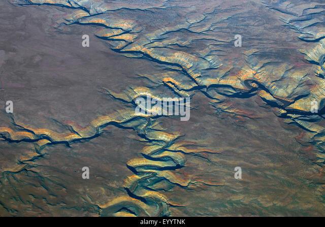 Colorado-Plateau, Grand Canyon, aerial view, USA - Stock Image