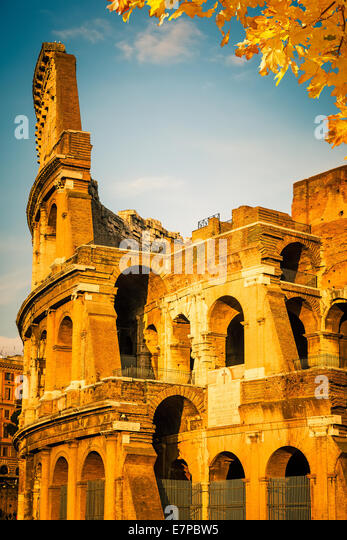 Colosseum at sunset - Stock-Bilder