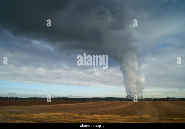 UK,North Yorkshire,Drax Power Station & Agricultural Land - Stock Image
